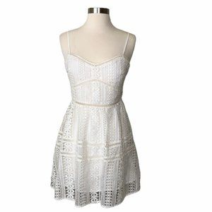 NEW Lovers + Friends Embroidered Lace Mini Dress S